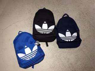 [胖達] ADIDA  BACKPACK 愛迪達 基本款 三葉草logo 後背包  AJ8527 黑色 AJ8528 寶藍色 AJ8529 深藍色