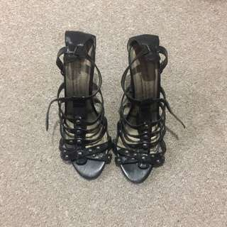 Studded Gladiator Style Heels