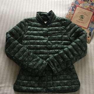換季大減價))))Aigle 綠色修身短羽絨