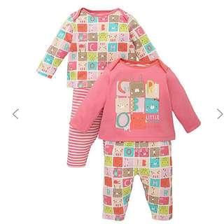 Mothercare Animal Blocks Unisex Pyjamas