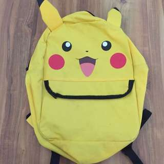 Pikkachu bag pack