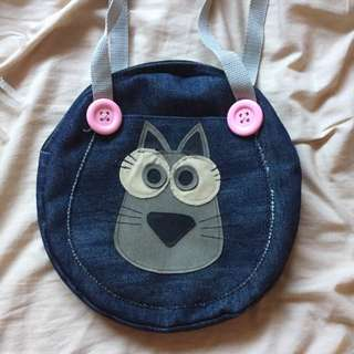 handmade denim bag