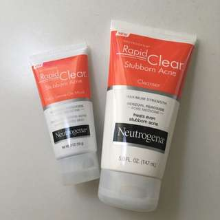 Neutrogena Stubborn Acne Cleanser and Mask