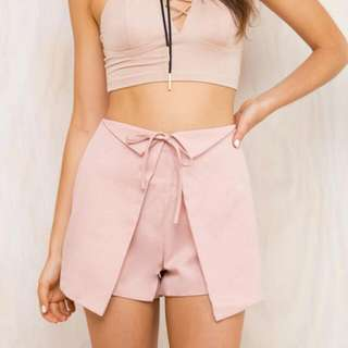 Brand New Cute Shorts In Blush- Size 10