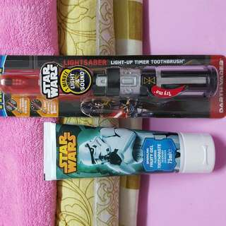 Star Wars Electronic Toothbrush And Tooth Paste