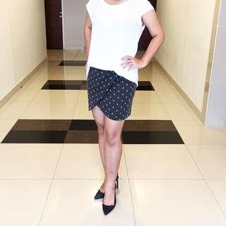 Preloved Polkadot Skirt