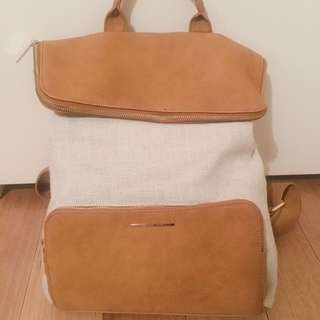 Country Road Beige And Camel Back Pack