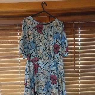 Portman's Light Blue Size 12 Dress