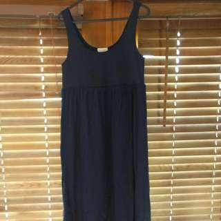 Navy Blue Witchery Maxi Dress Size Large
