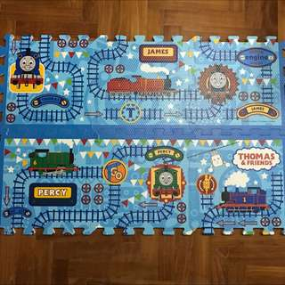 Lightly Used Thomas And Friends 6 Piece Rubber Mat