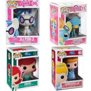 Disney And My Little Pony Pop Vinyls