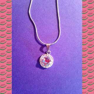 """Pretty """"Diamond"""" Necklace (not real)"""