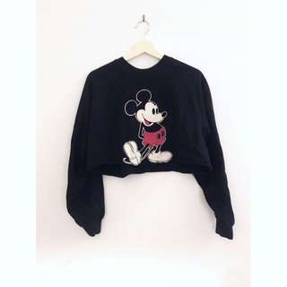 Top shop Mickey Mouse Cropped Jumper