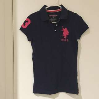 Authentic POLO Shirt Navy x pink