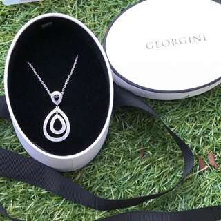 Georgini Cubic Zirconia Silver Necklace