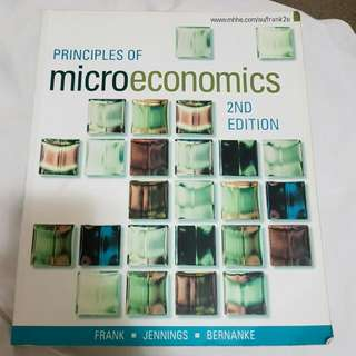 Principles Of Microeconomics 2E 2nd Edition Frank Jennings Bernanke