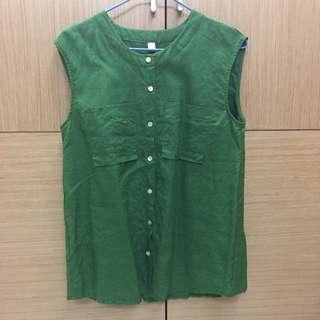 [女裝] 轉賣SORA 🇰🇷正韓棉麻無袖上衣