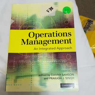 Operations Management An Integrated Approach (Melbourne University) Samson Singh