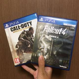Fallout 4 & Call of Duty:Advanced Warfare (PS4)