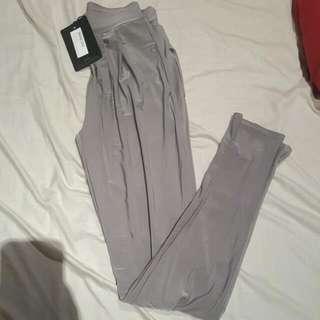 PLT Grey Slinky High Waisted Peg Trousers Size 6