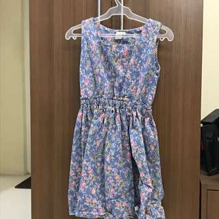 Maong floral dress - repriced!
