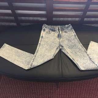 Top Shop Acid Wash Jeans