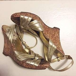 Gold Wedges - Carlos Santana Size US 7