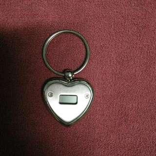 Heart Shape Keychain with Clock