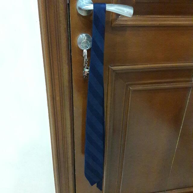 Abba Silk Navy Tie