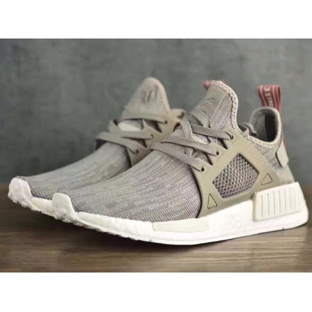 Adidas NMD XR1 Primeknit Womens Solid Grey Clear Onix Raw Pink ... f8986b6e9