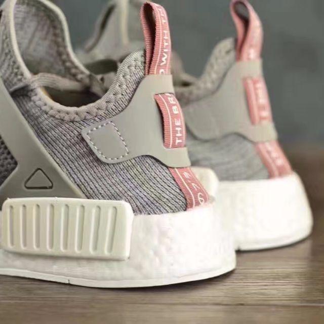 5bd683c32 Adidas NMD XR1 Primeknit Womens Solid Grey Clear Onix Raw Pink ...