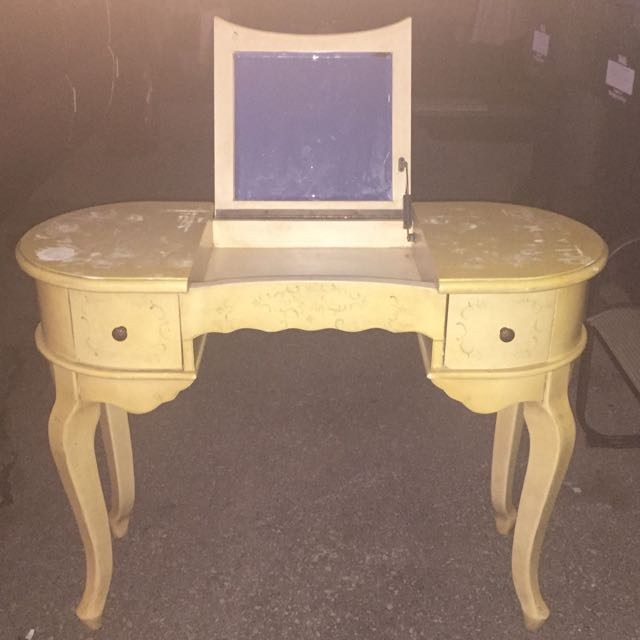 Antique Makeup Vanity