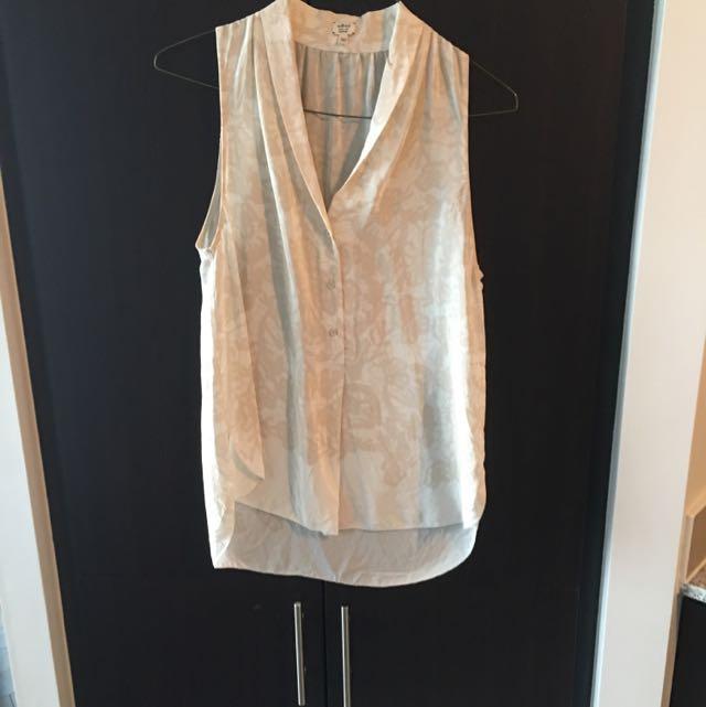 Aritzia - Wilfred - 100% Silk Sleeveless Blouse
