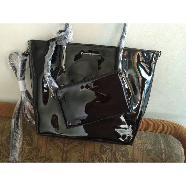 c1f183164f78 Armani Exchange Tote Bag (Black)