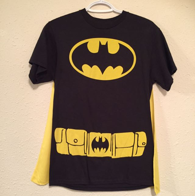 Bateman Shirt With Removable Velcro Cape