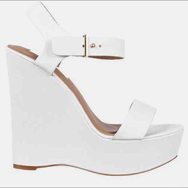 Billini White Sienna Wedge Size 7