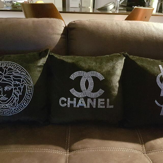 Chanel, YSL, Versace Cushion Cover