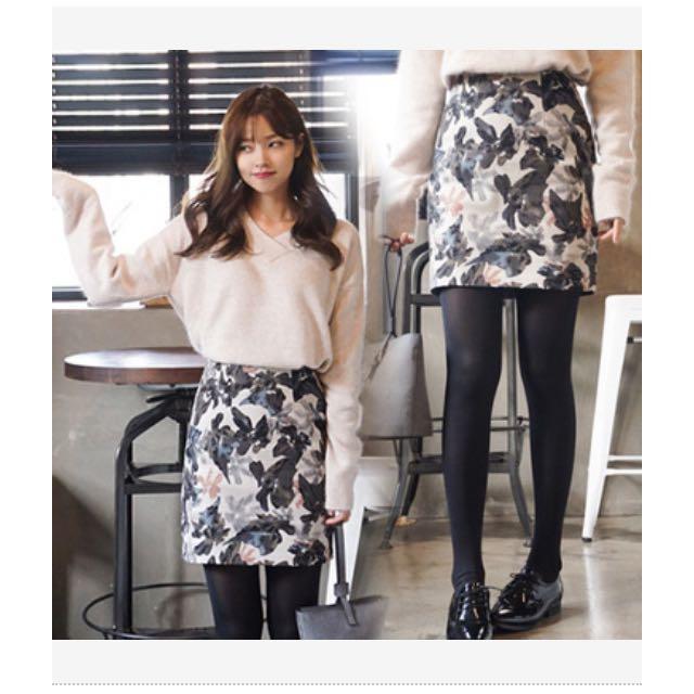 Cherrykoko彩繪大花短裙