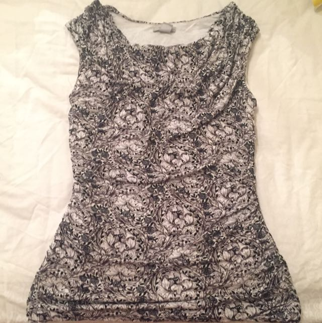 Cowl Neck Rouged H&M Top