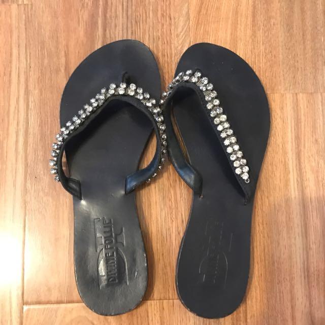 Dark Blue Sandals