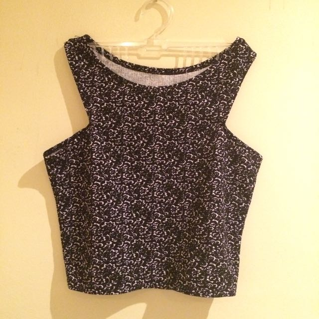Dark Gray Crop Top