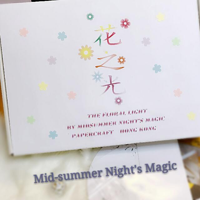 花之光~D1Y紙雕藝術燈(自家設計) 聖誕,情人禮物 Own Design Papercraft Lamp
