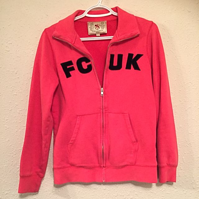 French Connection United Kingdom Pink Zip Up Sweater