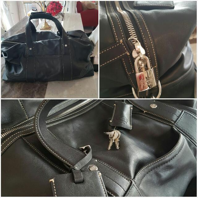 Genuine Coach Leather overnight Bag