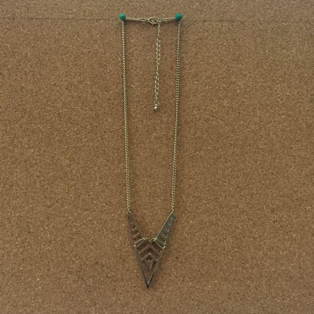 Gold Triangle Medium Necklace
