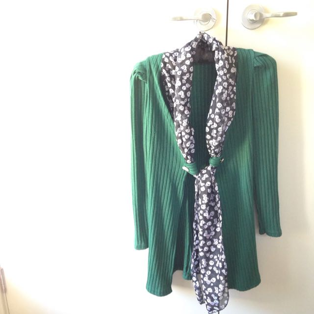 Green Cardigan Small