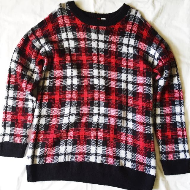 REPRICED H&M Plaid Sweater