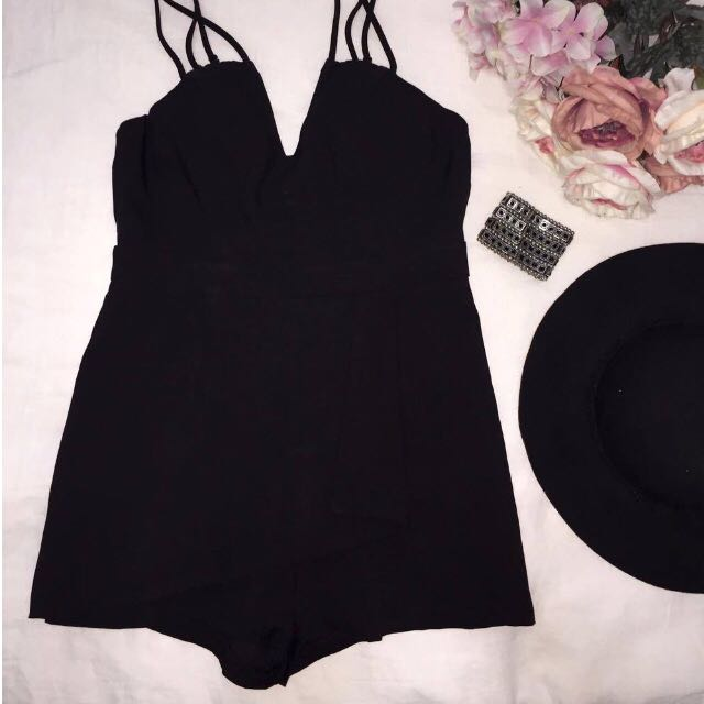 JET BLACK Valley Girl SEXY PLAYSUIT (12)