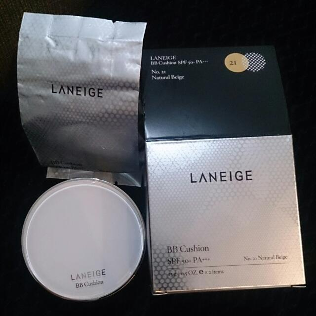 Laneige BB Cushion SPF 50/ PA No.21 (Natural Beige) + refill