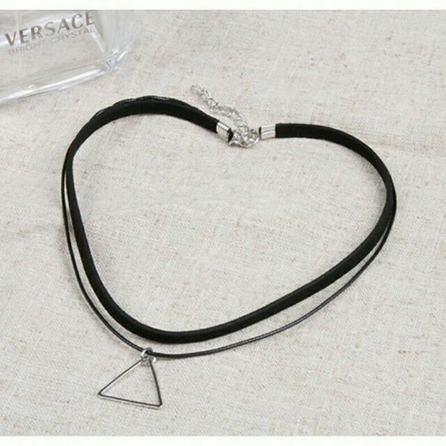 LAST PIECE FREE SHIPPING Double stranded choker (SILVER)
